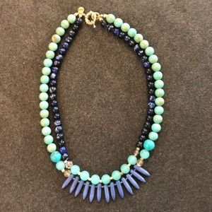 The Loft, blue and green necklace